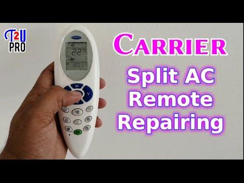 How to repair carrier Split Air conditioner remote control