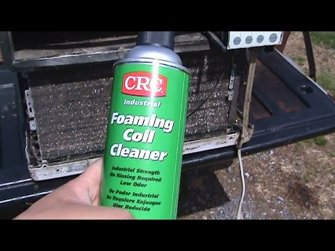 CRC FOAMING COIL CLEANER VS. VERY NASTY A/C COIL !!!