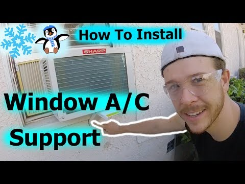 How To Install Window Air Conditioner Support Bracket -Jonny DIY
